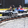 Salisbury: Erin and Audrey, no last name given, race around each other the track at the Salisbury Speadway on a warm summer Monday afternoon.Jim Vaiknoras/staff photo