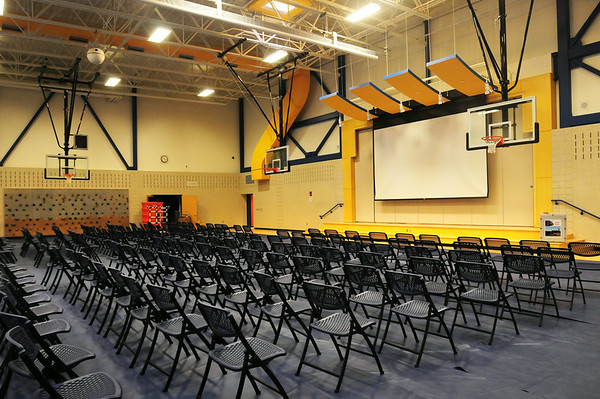 BRYAN EATON/ Staff Photo. The Bresnahan School gymnasium which also is the auditorium.