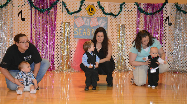 JIM VAIKNORAS/Staff photo The toddler boys division takes the stage at the Baby Seabrook pageant at the Community Center in Seabrook Saturday.