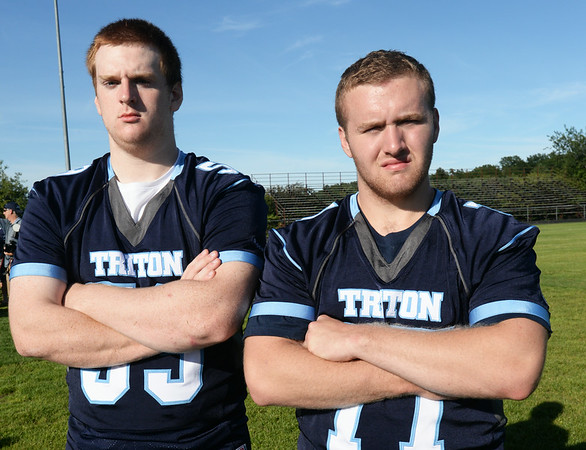 BRYAN EATON/ Staff Photo. Triton's Ellsworth Rogers, left, and James Ford.