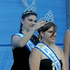 JIM VAIKNORAS/Staff photo 2013 Miss Seabrook Shannon O'Hara crowns tis years winner , her sister, Erin O'Hara at Seabrook Old Home Days Saturday at Seabrook Elementary School.