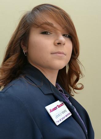 BRYAN EATON/ Staff Photo. Lexie Dupra a part time employee at Newburyport's Market Basket.