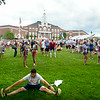 JIM VAIKNORAS/Staff photo Runners gather infront of Newburyport High for the Lions Club Yankee Homecoming Road Race.