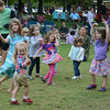 JIM VAIKNORAS/Staff photo Kids dance to the music of the Compaq Big Band in Market Landing Park in Newburyport Saturday night.