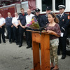 BRYAN EATON/ Staff Photo. Collette Crooks speaks on the importance of being vigilante when young children are in the water. The ten year-old pulled a young boy from the water at Sandy Point on Plum Island.