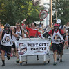 JIM VAIKNORAS/staff photo Port City Pappys and Olive Oil at the Lions Club Bed Race on Federal Street in Newburyport.