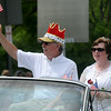 JIM VAIKNORAS/Staff photo  Senior King and Queen Lon Hachmeister and Roseann Robillard ride in style in the Yankee Homecoming Parade on High Street in Newburyport Sunday.