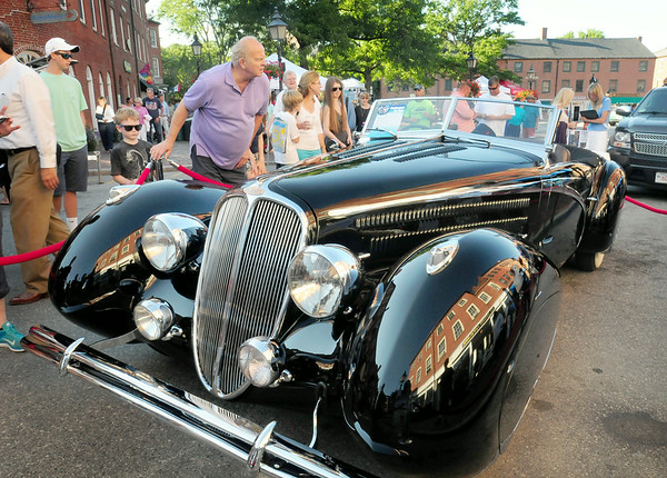 BRYAN EATON/Staff Photo. This 1948 Delahaye 135 M from France garnered much attention at the Newburyport Car Show.