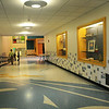 BRYAN EATON/ Staff Photo. The main lobby in the Bresnahan School with tile artwork by students for the old school and the Brown School.