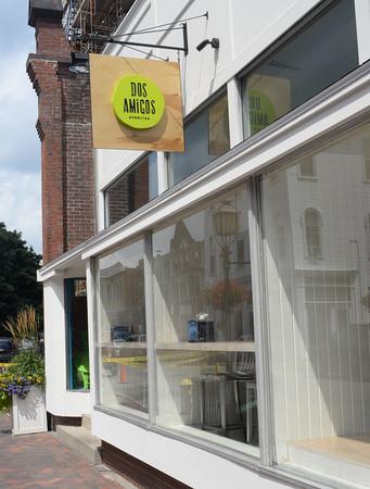 BRYAN EATON/Staff Photo. New burrito business Dos Amigos on Pleasant Street in Newburyport.