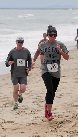 JIM VAIKNORAS/Staff photo <br /> Woman's winner at the Running festival at Salisbury Beach