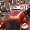 BRYAN EATON/Staff photo. Leland Perry, 9, with dad Adam Bullard of Barre, Vermont check out a 1934 Plymouth P.E.