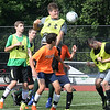BRYAN EATON/Staff photo. Pentucket High soccer team in practice yesterday.