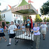 JIM VAIKNORAS/Staff photo. The Theater in the Open bed makes it's down Federal Street in the annual Lions Club Bed Race.