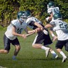 BRYAN EATON/Staff photo. Pentucket High football team in practice yesterday.