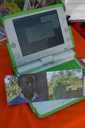 JIM VAIKNORAS/Staff photo Laptops used by children in Africa provided by Small Solutions Big Ideas