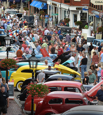 BRYAN EATON/Staff photo. The Newburyport Car Show once again filled State Street in downtown as people from all over the area came to vintage vehicles.
