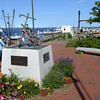 BRYAN EATON/Staff Photo. The Fisherman's Memorial, as it was last July, before being moved to make way for the new harbormaster's building.