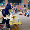 "BRYAN EATON/Staff photo. Lindsay Aucella presents her ""Lindsay and Her Puppet Pals"" at the YWCA Children's Center Summer Fun Series on Tuesday morning. Here she presents Betty Bear who leads the children on a cooking adventure."