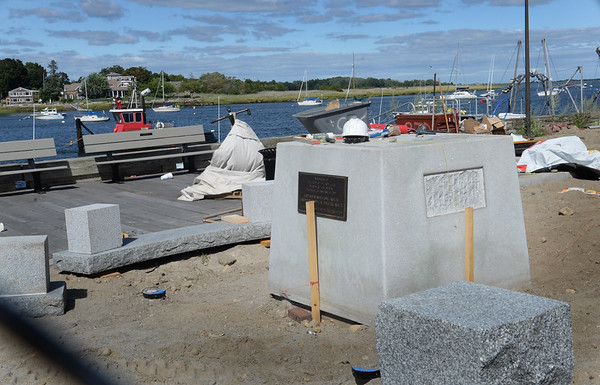 BRYAN EATON/Staff photo. The Fisherman's Memorial is back in place and will be re-dedicated next month.