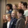 "BRYAN EATON/Staff photo. Students in the afterschool Explorations Program at Salisbury Elementary School sing ""Hot Cup of Cocoa"" in the choir class taught by school music teacher Deb Walton on Monday afternoon. They will be performing in the school's Winter Concert this Wednesday at 5:00 p.m."