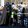 JIM VAIKNORAS/Staff photoDark Lord of the Sith Darth Vader works the crowd during the Annual Merrimac Santa Parade.