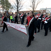 JIM VAIKNORAS/Staff photo The Amesbury High School Marching Band  Amesbury's annual Santa Parade.