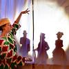 "BRYAN EATON/Staff Photo. Kelley Knight as Bernoccola with ""Christmas Future."""
