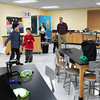 West Newbury: The Page School in West Newbury held an open house on Wednesday to show off the new entrance, cafeteria and gym and here a science lab. Students of the school gave the tours of the completed renovations. Bryan Eaton/Staff Photo
