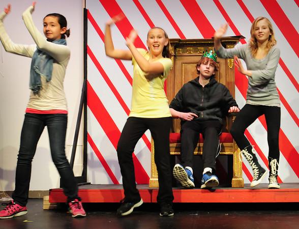 Newbury: Santa watches dancers in Mister Santa at Newbury Elementary School. Bryan Eaton/Staff Photo