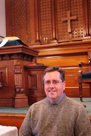Newbury: Jeff MacDonald has taken over as minister at the First Parish Church in Newbury. Bryan Eaton/Staff Photo