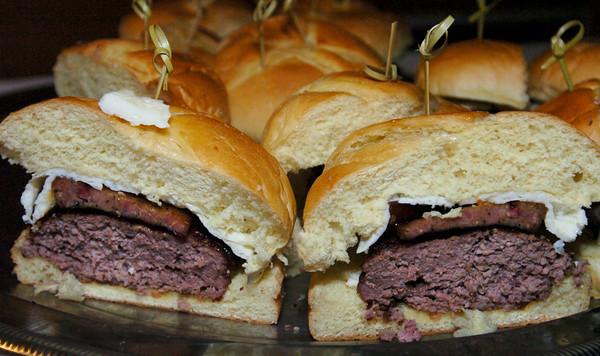 Newburyport: Fil MacArthur's Linguica Burger. Bryan Eaton/Staff Photo