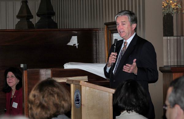 Newburyport: Congressman John Tierney spoke at the Newburyport Chamber of Commerce and Industry Breakfast at the Black Cow yesterday. Bryan Eaton/Staff Photo