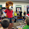 "Amesbury: ""Theodore"" one of Chartwell School Dining Services ""Eat, Learn and Live"" characters visited Amesbury Elementary School on Tuesday. The mascots from Chartwell, who provide meals at Amesbury Schools, stop at the various it services to help teach the children about good nutrition. Bryan Eaton/Staff Photo"