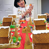Newburyport: Lyndi Lanphear leads a craft class at the Salvation Army building in making gingerbread houses. Bryan Eaton/Staff Photo