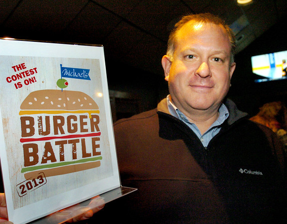 Newburyport: Todd Giedraitis of Byfield won with his Todd's Famous Burger. Bryan Eaton/Staff Photo