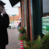 Newburyport: A patron of the Thirsty Whale in Newburyport steps outside for a cigarette in a designated smoking area agreed to by the city and the downtown restaurant and bar. Bryan Eaton/Staff Photo