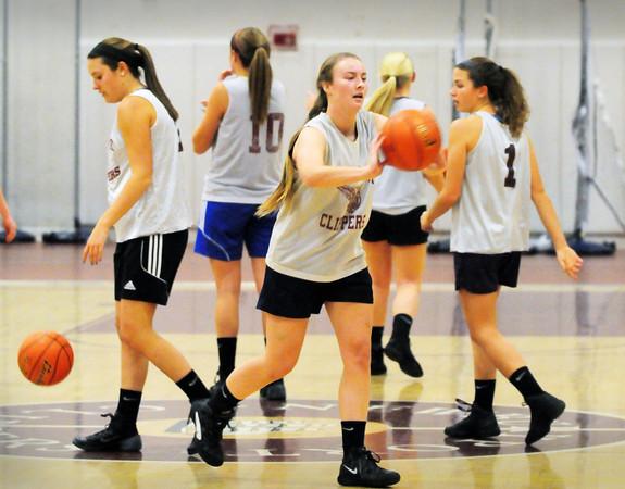 Newburyport: Newburyport High girls basketball team started practice last night. Bryan Eaton/Staff Photo