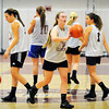 Newburyport: Newburyport High girls basketball team started practice last night. Bryan Eaton/Staff Photo