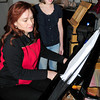 "Amesbury: The second actress portraying ""Virginia"" is Elena Sanborn rehearsing with pianist Alia Mavroforos. Bryan Eaton/Staff Photo"