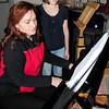 "Amesbury: The second actress portraying ""Virginia"" is Elena Sanborn rehearsing with pianist Alia Mavroforos. Bryan Eaton/Staff Photo"