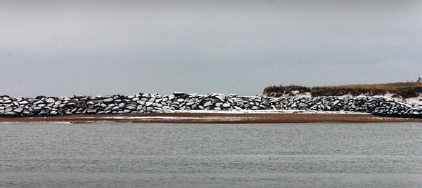 Newburyport: Work is about to resume on the Merrimack River's south jetty on Plum Island. Bryan Eaton/Staff Photo