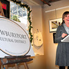 Newburyport: Anita Walker, executive director of the Massachusetts Cultural Council addresses a gathering at the Newburyport Art Association at an unveiling giving Newburyport the designation of a cultural district. Bryan Eaton/Staff Photo