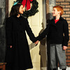 """Amesbury: One of two actresses portraying """"Virginia,"""" Maya Gakidis with Patrick Kelleher as """"Ollie."""" Bryan Eaton/Staff Photo"""