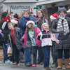 Merrimac: Kids in the crowd wait for Santa to arrive on West Main Street during the town's annual Santa Parade Sunday. Jim Vaiknoras/staff photo