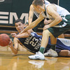 West Newbury:  Hamilton-Wenham's Max Zegarowski makes a pass after diving for a loose ball during the General's game at Pentucket Monday night. Jim Vaiknoras/staff photo