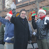 Amesbury: The Greater Amesbury Christian Men's Choir sings in Amesbury Santa Parade Saturday. Jim Vaiknoras/staff photo