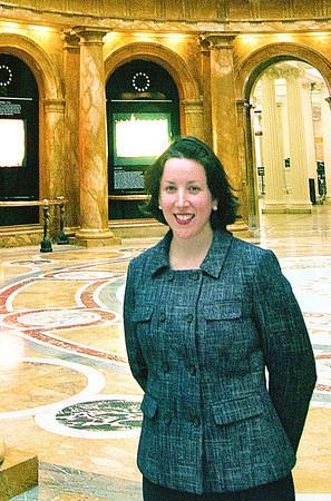 Boston: Sen. Katy Ives at the State House. Jim Vaiknoras/staff photo