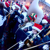 newburyport: The Triton high band performs at the annual tree lighting in Market Square in Newburyport Sunday. jim Vaiknoras/staff photo