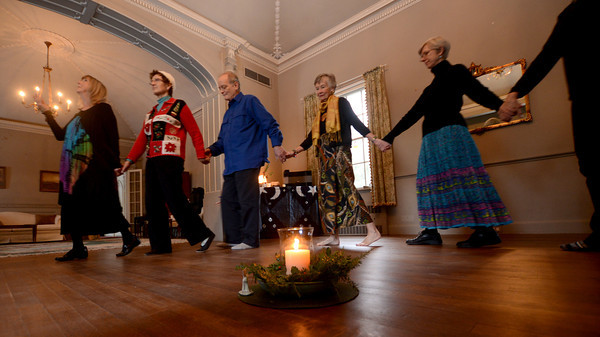 Newburyport: Ellen Kennedy leads a sacred dance celebrating the solstice at Chailey Manon in Newburyport. Jim Vaiknoras/staff photo